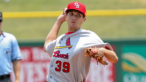 Chris Corrigan has 18 strikeouts in 16 2/3 innings for Palm Beach.