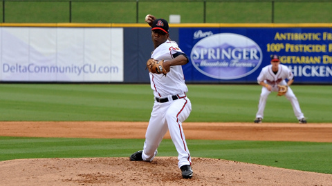 Julio Teheran is 2-1 with a 2.81 ERA in six starts for Gwinnett in 2012.