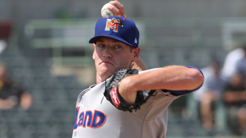 Daniel Straily has 90 strikeouts in 71 1/3 innings for Midland this year.